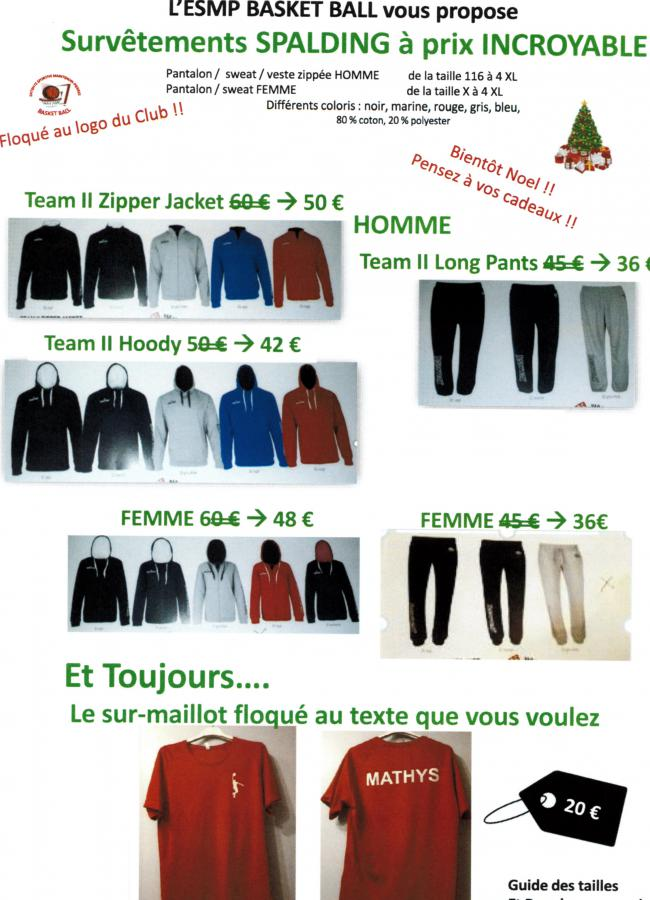 VENTE DE VETEMENTS SPORTIFS